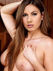 Connie Carter goes nude and opens her..