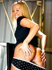 A nice pair of panties hugs her young..