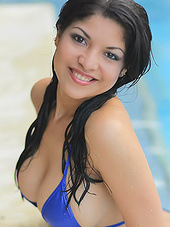Natalia Spice takes a swim in her..