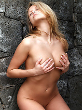 Come outdoors with a curvy blonde and..