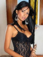 Glamorous latina honey teasing in..