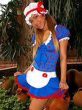 Petite latina in love with cosplay and..