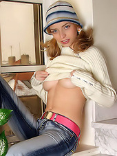 Slutty young blonde in her elegant sexy..