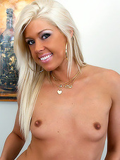 Teen blonde stripping and letting you..