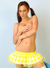 Tremendously cute yellow outfit on babe..