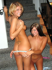 Naugthy young bitches in hot lesbian..