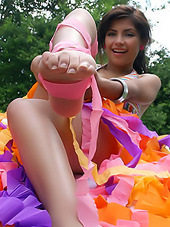 Little girl in colorful undies exposes..
