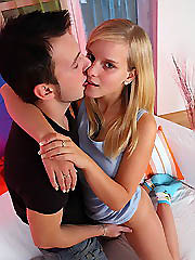 Gorgeous blonde conquers her first big..