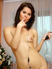Wild college girl Oleja strip naked in..