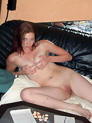 Amateur spreading on top of the couch