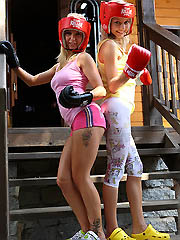18yo teen Pinky June boxing with her..
