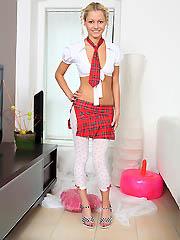18yo teen Pinky June stripping in..