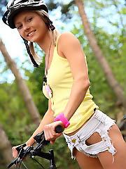 Gorgeous blond teen Pinky June get hot..