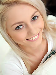 Gorgeous blond teen Pinky June teasing
