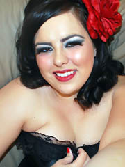 Charming chubby brunette gets rid of..