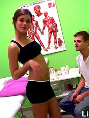 Little Caprice getting massaged and..